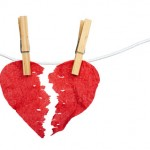 Paper Heart divided into two parts