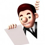 3D Business man Mascot is holding paper documents. Work and Job Character Design Series.