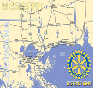 Rotary District 6840 map
