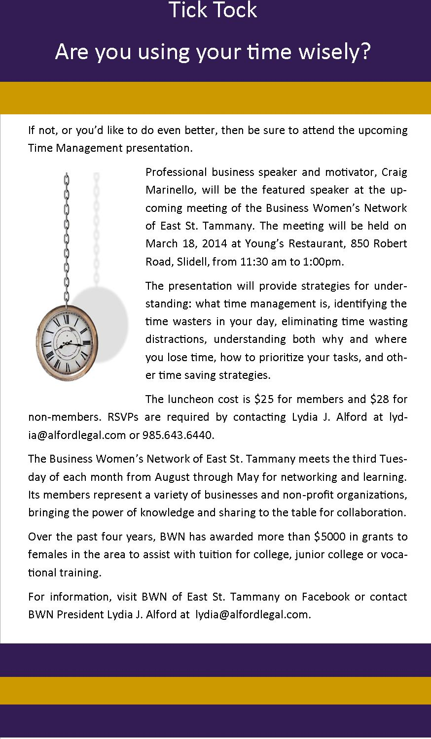 Time Management Meeting