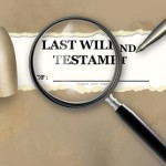 Last Will and Testament with magnifying glassLast Will and Testament with magnifying glass